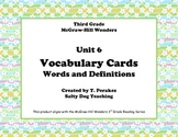 McGraw Hill Wonders Unit 6 Vocabulary Words & Definitions Cards - spring flowers