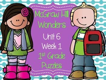 McGraw Hill Wonders Unit 6 Week 1 Puzzles