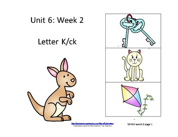 McGraw-Hill Wonders Reading Groups: Unit 6, Week 2: Letter K, ck