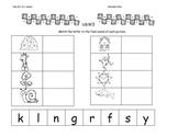 Kindergarten: Unit 6 Week 3- Lesson Plan/Activities