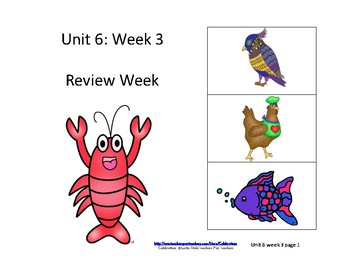 Reading Groups: Unit 6, Week 3: Review