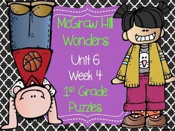 McGraw Hill Wonders Unit 6 Week 4 Puzzles
