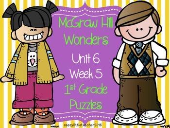 McGraw Hill Wonders Unit 6 Week 5 Puzzles