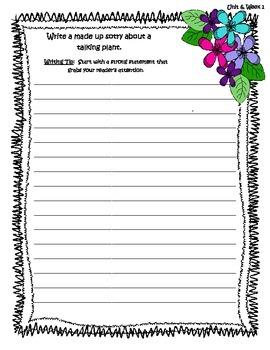 McGraw Hill Wonders Unit 6 Writing Prompts - 2nd Grade