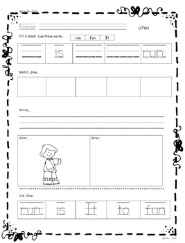 Kindergarten Wonders: Unit 7 Week 1- Lesson Plan/Activities