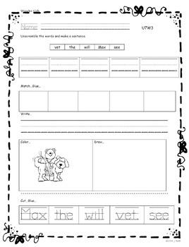 Kindergarten: Unit 7 Week 3- Lesson Plan/Activities