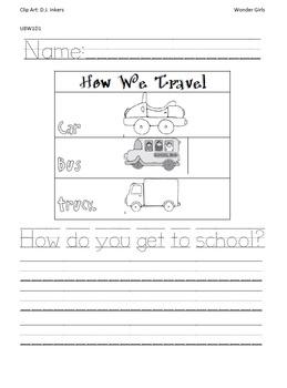 Kindergarten: Unit 8 Week 1- PowerPoint/Activities