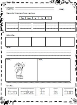 Kindergarten Wonders: Unit 9 Week 1- Lesson Plan/Activities