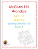 McGraw Hill Wonders: Units 1-6 BUNDLE of Spelling & Phonic