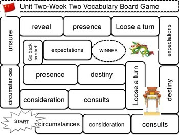 McGraw-Hill Wonders Vocab. Game Unit 2