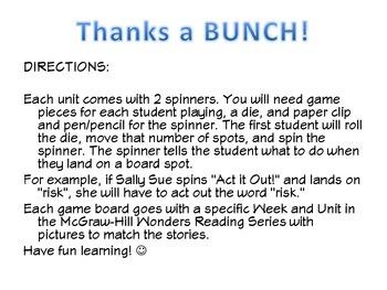McGraw-Hill Wonders Vocab. Game Unit 3