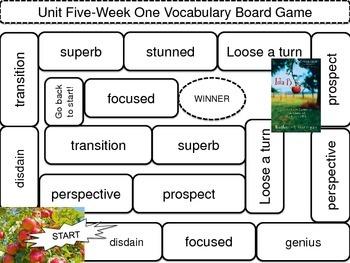 McGraw-Hill Wonders Vocab. Game Unit 5