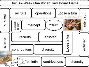 McGraw-Hill Wonders Vocab. Game Unit 6