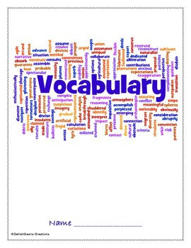 McGraw Hill Wonders Vocabulary Booklet, Grade 5, Units 1-6 with cover page