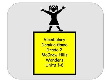 McGraw Hill Wonders Vocabulary Dominoes Grade 2