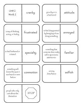 McGraw-Hill Wonders Vocabulary Dominoes Grade 4 Unit 2