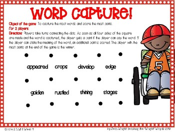 McGraw Hill Wonders Vocabulary Games Grade 2 Unit 6