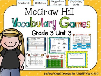 McGraw Hill Wonders Vocabulary Games Grade 3 Unit 3