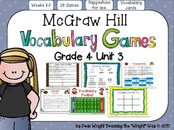 McGraw Hill Wonders Vocabulary Games Grade 4 Unit 3