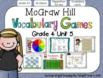 McGraw Hill Wonders Vocabulary Games Grade 4 Unit 5