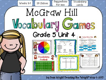 McGraw Hill Wonders Vocabulary Games Grade 5 Unit 4