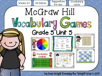McGraw Hill Wonders Vocabulary Games Grade 5 Unit 5