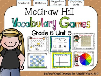 McGraw Hill Wonders Vocabulary Games Grade 6 Unit 5