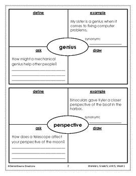 McGraw Hill Wonders Vocabulary, Grade 5, Unit 5
