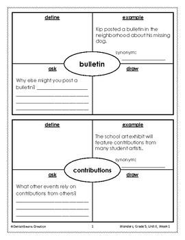McGraw Hill Wonders Vocabulary, Grade 5, Unit 6