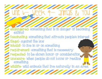 McGraw- Hill: Wonders-- Vocabulary Power Points for Unit 6