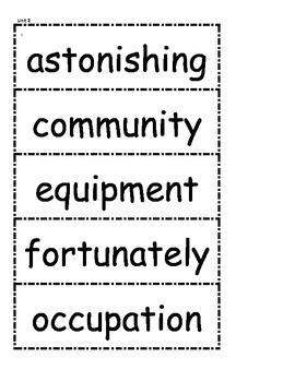 McGraw Hill Wonders Vocabulary Unit 2 1st Grade
