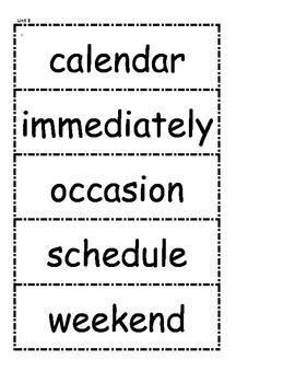 McGraw Hill Wonders Vocabulary Unit 3 1st Grade