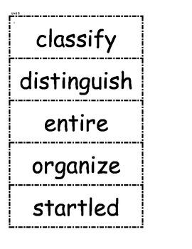 McGraw Hill Wonders Vocabulary Unit 5 1st Grade