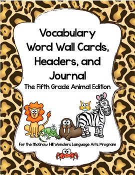 McGraw Hill Wonders Vocabulary Word Wall (5th Grade)