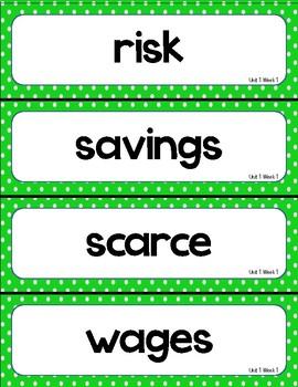 McGraw Hill Wonders Vocabulary Word Wall (5th Grade)