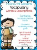 McGraw Hill Wonders Vocabulary Words & Descriptions Unit 6