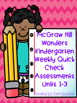 McGraw Hill Wonders Weekly Assessments Unit 1-3