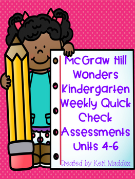McGraw Hill Wonders Weekly Assessments Units 4-6