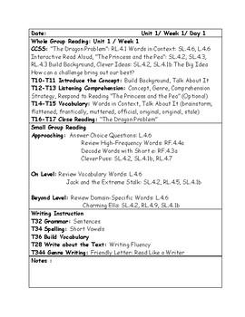 McGraw-Hill Wonders Grade 4 Unit 1 Week 1 Lesson Plans