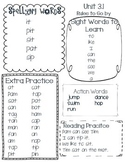 McGraw Hill Wonders Word List Unit 3 week 1 Kindergarten