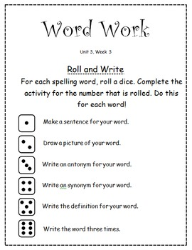 """McGraw-Hill """"Wonders"""" Word Work (Units 1-6) FOR ALL GRADES!"""