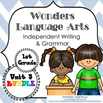 Wonders Writing 1st grade Language Arts Writing and Grammar Unit 3 Bundle