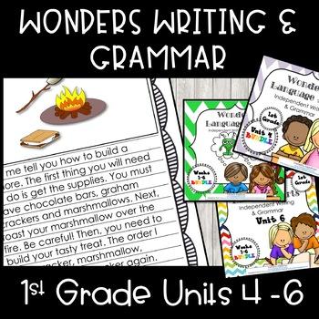 Wonders Writing 1st grade Units 4-6 Bundle