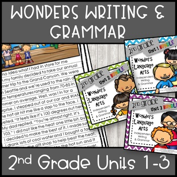 Wonders Writing 2nd grade Units 1-3 Bundle