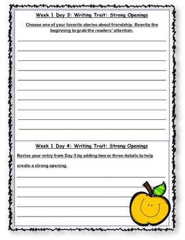 McGraw Hill Wonders Writing Every Day Ideas Journal: Unit 2 Grade 4