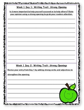 McGraw Hill Wonders Writing Every Day Ideas Journal: Unit 5 Grade 4