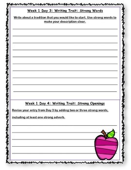 McGraw Hill Wonders Writing Every Day Ideas Journal: Unit 6 Grade 4