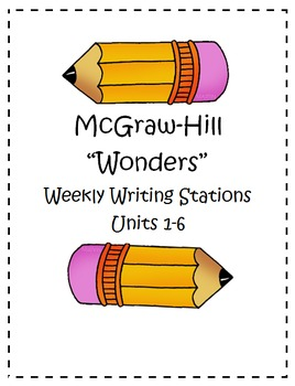 "McGraw Hill ""Wonders"" Writing  Pack 3rd Grade (Units 1-6)"