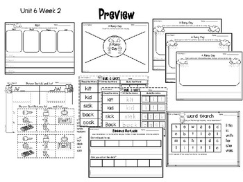 McGraw Hill Wonders Writing Responses and Activity Pages Unit 6 Kindergarten
