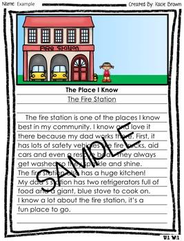 Wonders Writing and Grammar 1st Grade Unit 1 Week 2